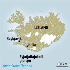 Vulkaankaart IJsland
