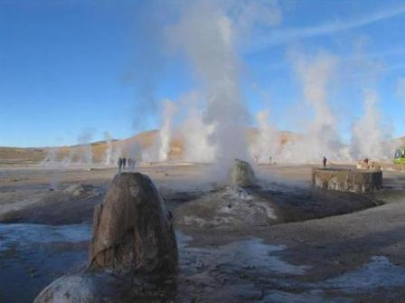 Geiserveld 'El-Tatio' in Chili